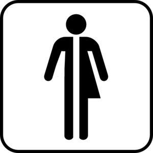 Unisex Bathroom Signs unisex restroom sign really gotta go to the bathroom di cut decal car Httpwwwclkercomclipart Unisex Bathroom
