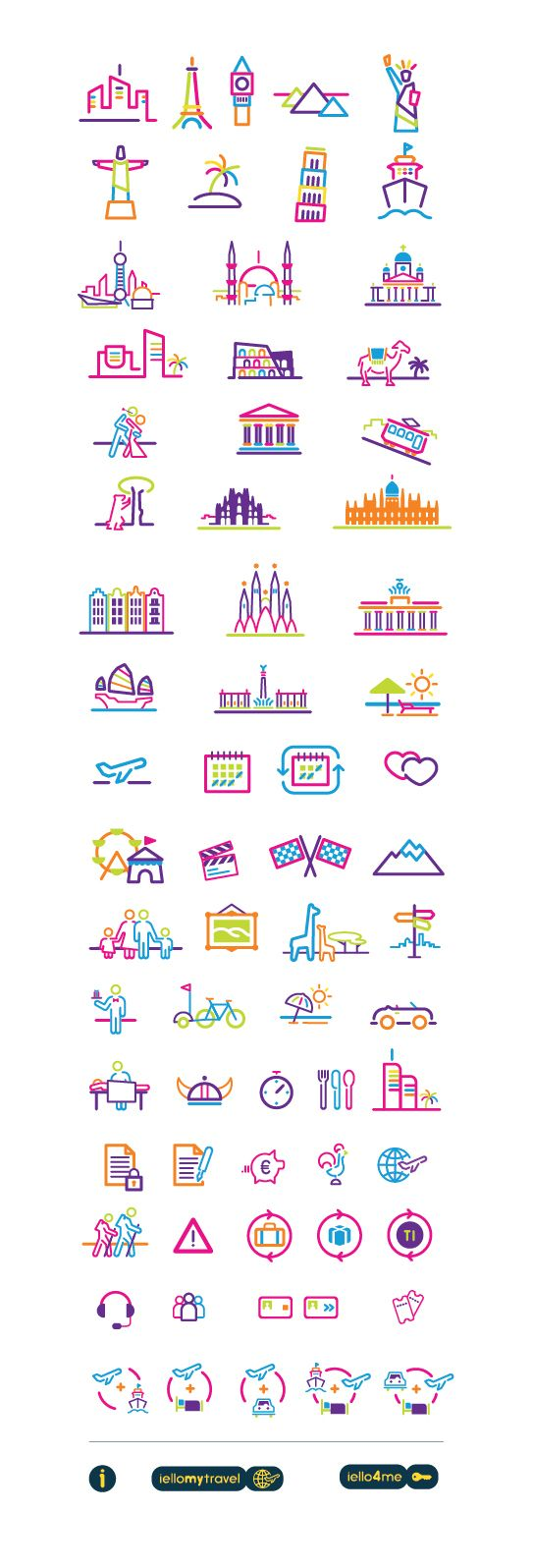 IELLO TRAVEL - icon set - David Rafachinho