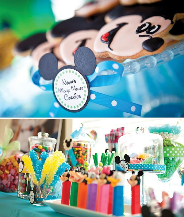 Mickey Mouse Inspiered Birthday Party Ideas: Mickey Mouse Birthday, Birthday Parties, 1St Birthday, Parties Ideas, Mickey Birthday, Disney Theme, Disney Birthday, Mouse Parties, Birthday Ideas