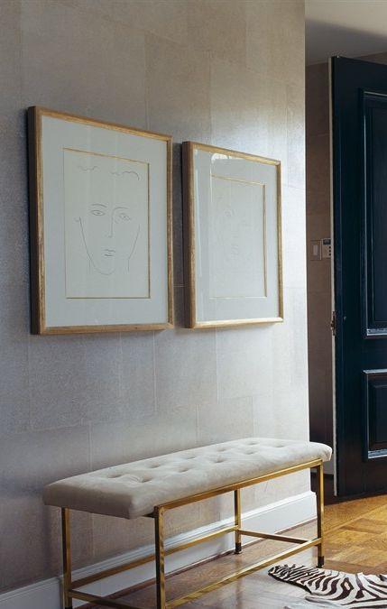 gold + white prints