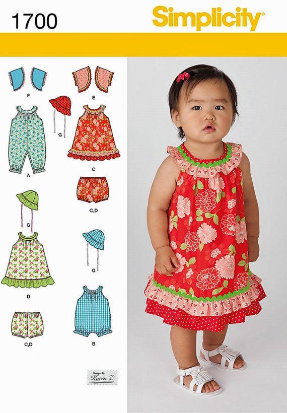 Baby Girls Dress Pattern, Toddler Dress Pattern, Toddlers Romper ...