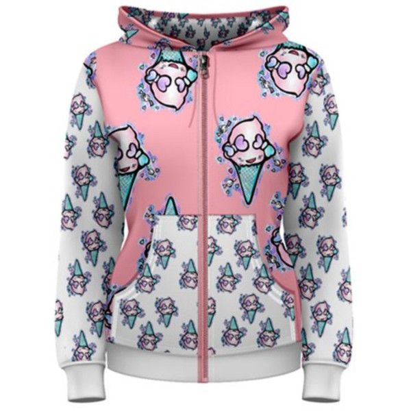 Womens Hoodie Zipper Zip Up Xs 3xl Includes Plus Size Ice Cream... ($70) ❤ liked on Polyvore featuring tops, hoodies, silver, sweatshirts, women's clothing, zip up sweatshirt, plus size tops, zippered hooded sweatshirt, hooded sweatshirt en zip hooded sweatshirt