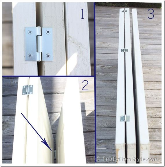 Hinge-placement for a folding screen