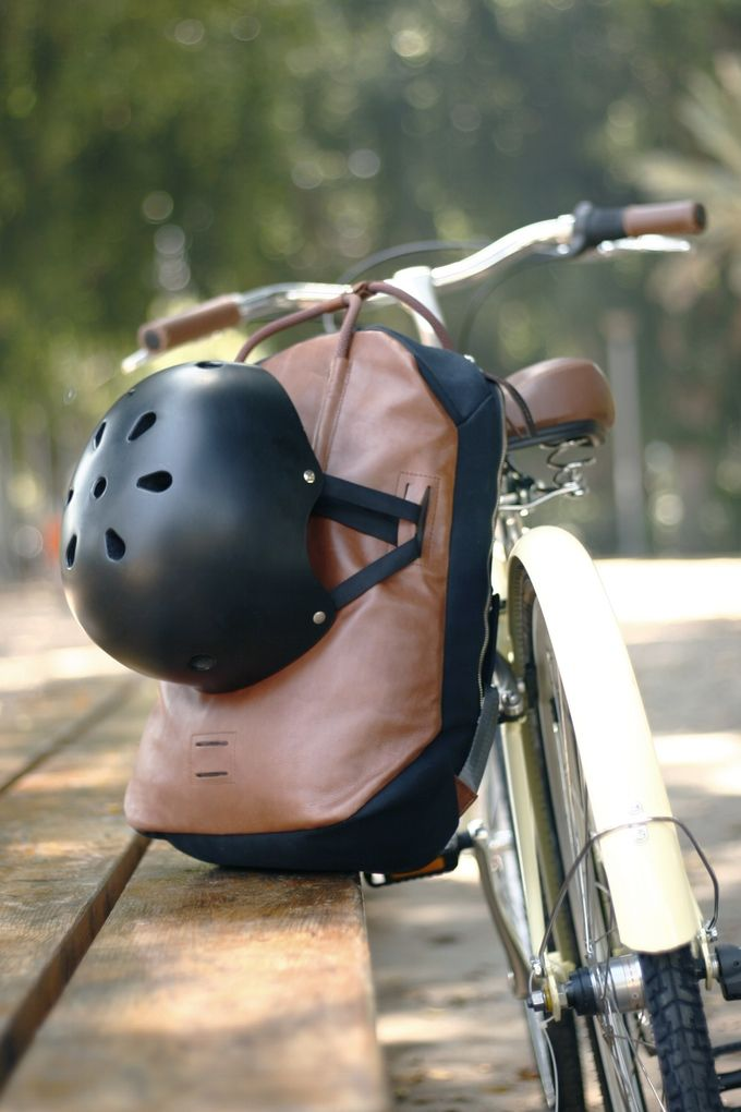 We thought about everything! your helmet can be attached to the bag while not in use.