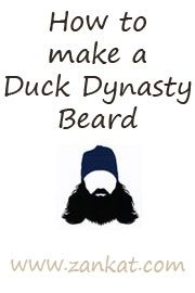 Duck Dynasty Beard #halloween #costume costume Halloween 2014 DIY #duckdynasty