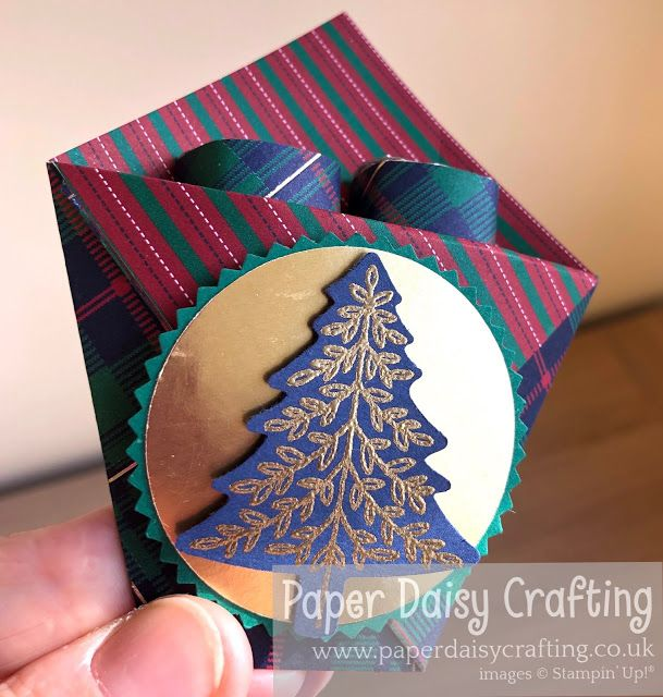 Christmas Tree Treat Pouches For Hershey Nuggets Stampin Up Paper Daisy Snowman Treats