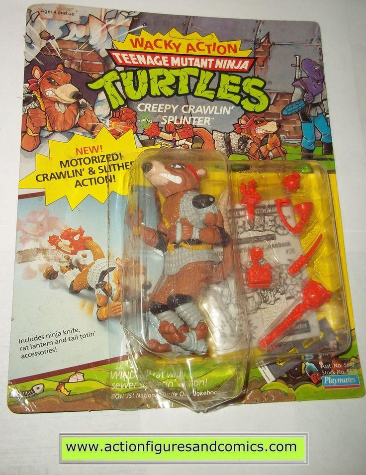 teenage mutant ninja turtles SPLINTER creepy crawlin wacky action vintage playmates toys mib moc mip tmnt