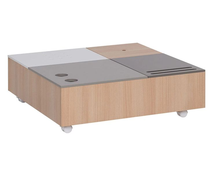 Mesa de centro multifuncional Custom, multicolor - 90x90 cm | Westwing Home & Living