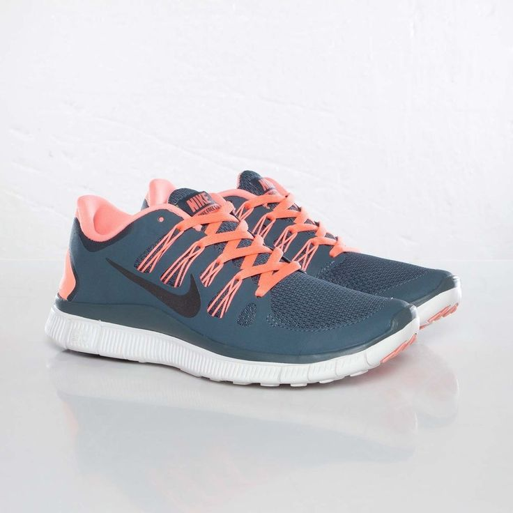 Women's Nike Free Run 5.0+ Running Training Jogging Shoes Charcoal Gray Coral Pink White 580591-446 Free Runs