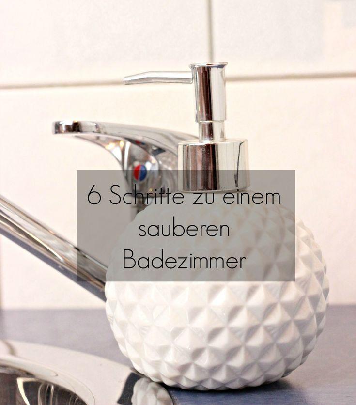 Heute habe ich euch einen tollen Tipp mitgebracht: 6 Schritte zu einem sauberen Badezimmer So wirst auch du dein Bad in Zukunft immer ordentlich haben.