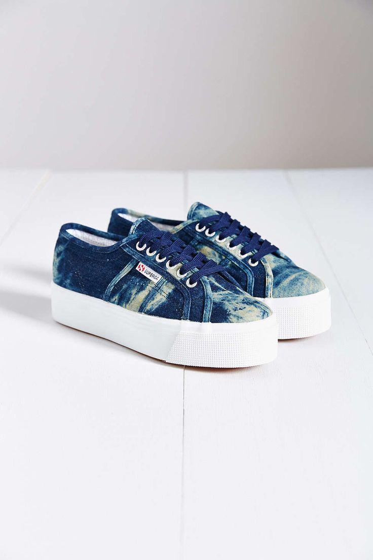 High Platform Denim Shoes