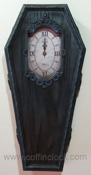 Black Victorian Coffin Clock By Winter S Asylum
