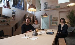 """Mark Brown, """" Urban Regenerators 'Assemble' Become First 'Non-artists' to Win Turner Prize,"""" The Guardian (7 December 2015). Collective that uses art and design to tackle urban dereliction in Toxteth, Liverpool, becomes first non-artists to win the Turner Prize. Three members of Assemble – Lewis Jones, Amica Dall and Fran Edgerley – inside A Showroom for Granby Workshop, created for the Turner prize show."""