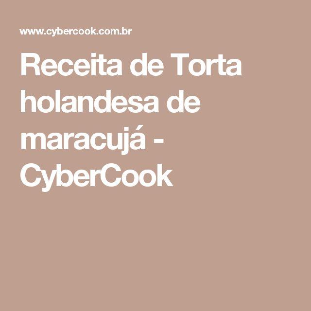 Receita de Torta holandesa de maracujá - CyberCook