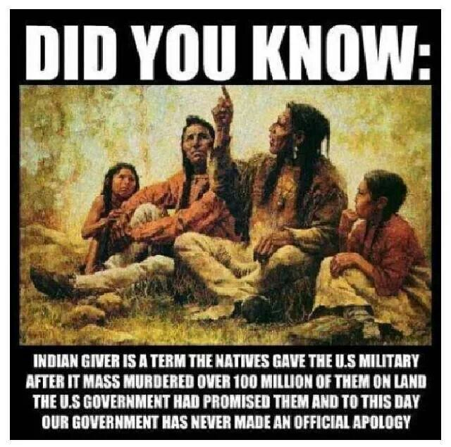 Indian giver In my family we use this term a lot