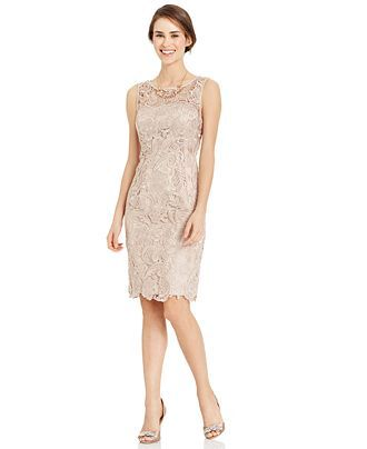 nike lunaracer 2 running shoes Adrianna Papell Sleeveless Lace Sheath - LOVE this in Doe! | Bridesmaid Dresses |  | Adrianna Papell, Lace Sheath Dress and Lace