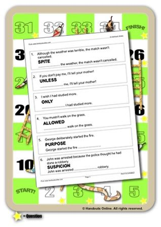Conditionals Worksheets, ESL EFL activities and lesson plans