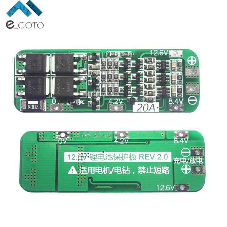 3 s 20aリチウムイオン18650リチウム電池保護ボードリポバッテリー充電器を保護pcb bms 12.6ボルト携帯モジュール用ドリルモータ