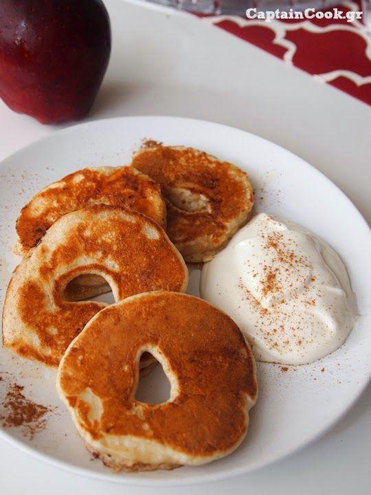 Μια διαφορετική, χαριτωμένη ιδέα, τα μήλα κομμένα σε ροδέλες, βουτάνε στον χυλό για τηγανίτες,...