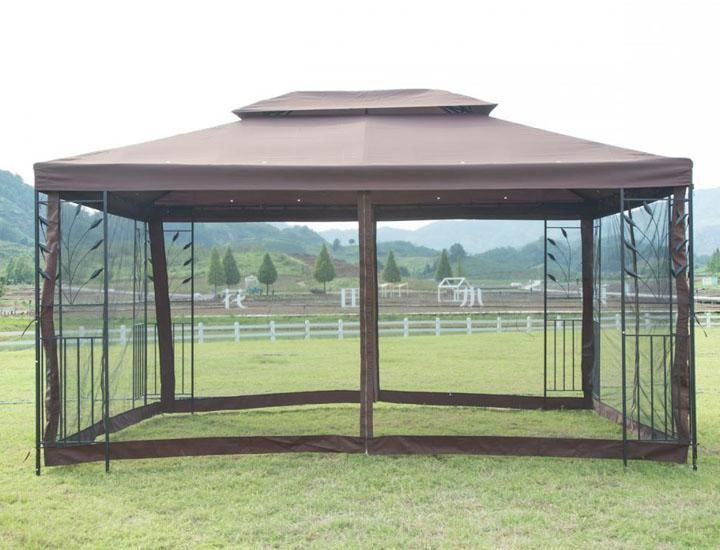 Outdoor Steel Frame 10 Ft X 10 Ft Vented Garden Canopy Gazebo In 2020 Garden Gazebo Patio Gazebo Gazebo