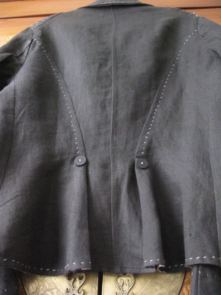 Resize jacket smaller using hand stitching. Take care to not pull front out of…