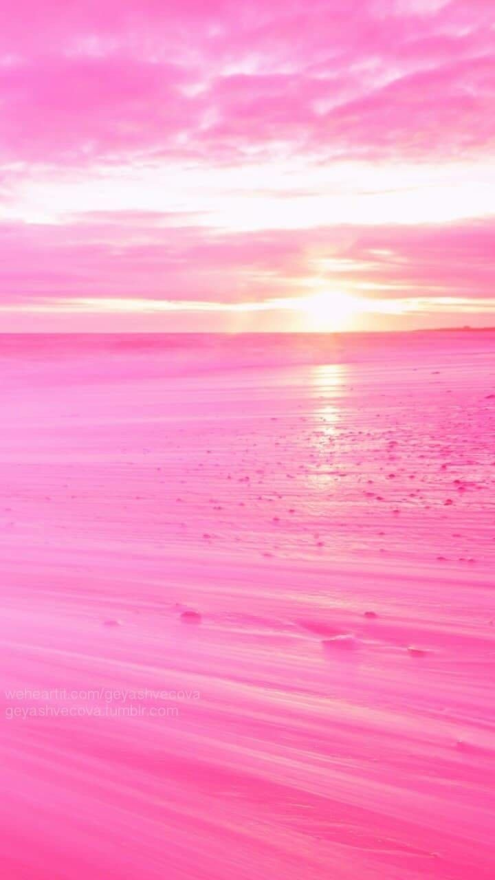 Pink Pink Pink In 2020 Pink Wallpaper Backgrounds Beach Wallpaper Beautiful Nature Wallpaper