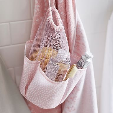 Drawstring Hanging Shower Caddy #pbteen