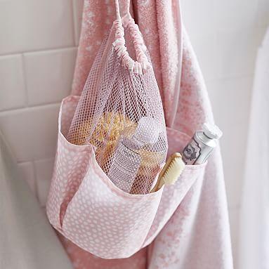 Drawstring Hanging Shower Caddy #pbteen