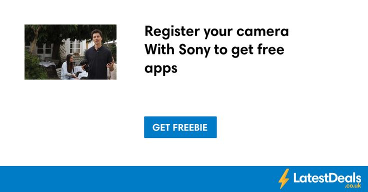 Register your camera With Sony to get free apps