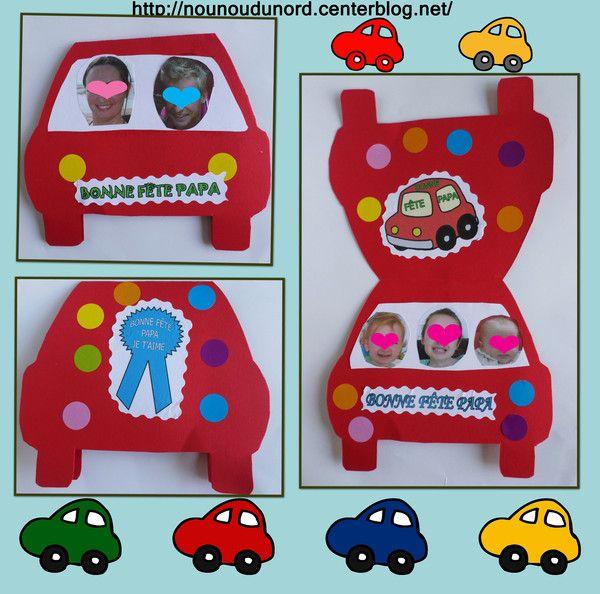 Carte voiture réalisée par Annalisa pour la fête des pères gabarit sur mon blog  http://nounoudunord.centerblog.net/3175-carte-voiture-realisee-par-annalisa-pour-la-fete-des-peres