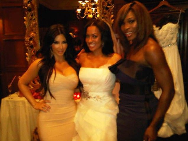 "Wedded Bliss  Kim's friend LaLa Anthony became a basketball wife before she did! Posing with the TV host, who married New York Knicks star Carmelo Anthony on July 11, 2010, and their pal Serena Williams, Kim twittered, ""Let the festivities begin Mrs. Anthony @Laura Hunter @Serena Williams."""