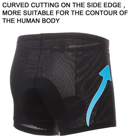 4ucycling 3D Silicon Gel Padded bike Underwear Shorts - Breathable,Lightweight,Men -Women