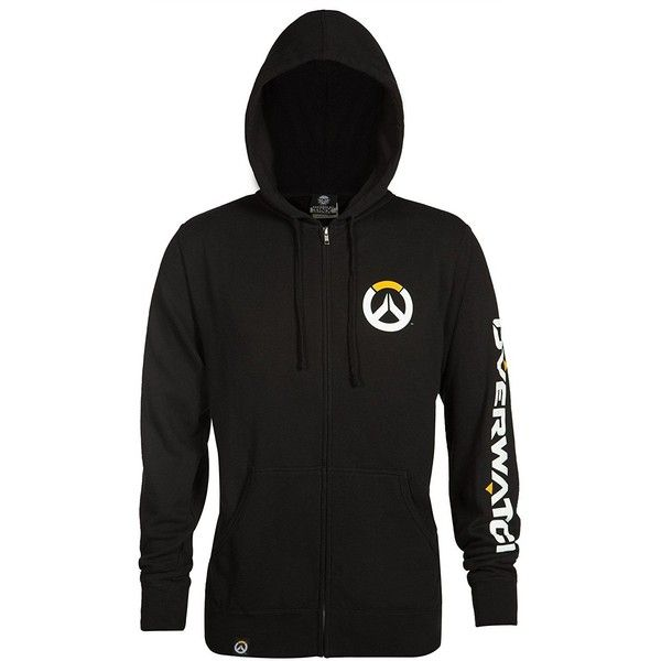 Overwatch Men's Logo Zip-Up Hoodie ($50) ❤ liked on Polyvore featuring men's fashion, men's clothing, men's hoodies, mens hoodies, mens hoodie, mens zip up hoodies, mens sweatshirts and hoodies and mens hooded sweatshirts