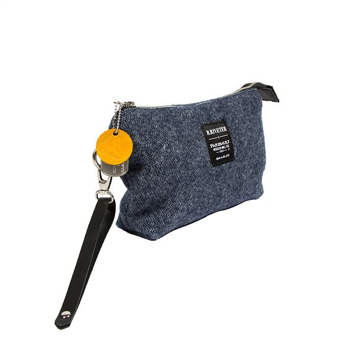 R. RIVETER ANNE GREEN POUCH - BLUE
