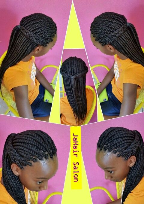 Simple and gorgeous box braids.