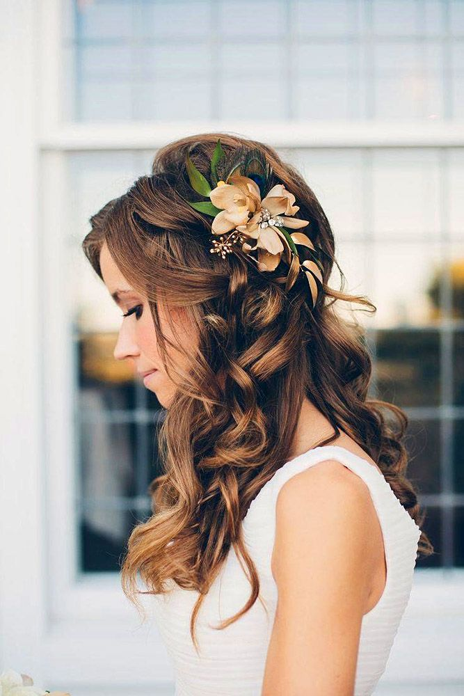 Bridal Hairstyles For Long Hair With Flowers : Best 25 bridal hairdo ideas on pinterest hair down