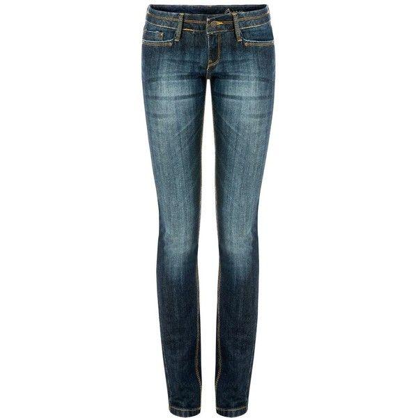 Mango Superslim leg jeans. ($56) ❤ liked on Polyvore: Blue Skinny Jeans, Leg, 435 Sek, Cool Color Denims, Style, Dark Wash Jeans, Low Rise Jeans, Polyvore, 370 Sek