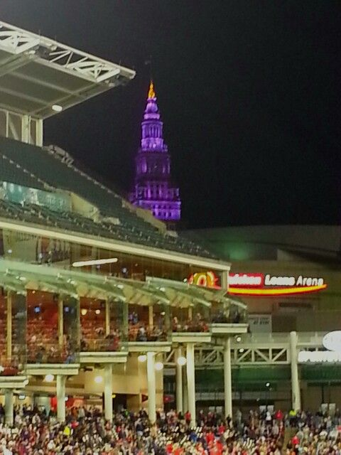 View from my seat @Stan Smith game last night. 9.24.13   Progressive Field   Cleveland, Ohio   Pinterest   Smith game and Ohio