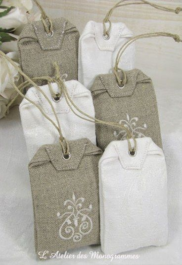 Sachets lavande - parfumer le linge - sachet d'armoire - Remerciements mariage…