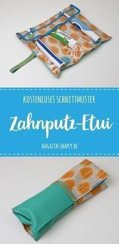 Zahnputz-Etui nähen – kostenloses Schnittmuster