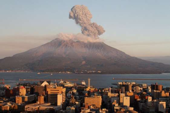 """SAKURAJIMA, JAPAN Sakurajima is known for its sporadic explosions. In February 2016, Sakurajima exploded, sending lava down the mountain and orange bursts into the sky. According to The Guardian, """"The country's meteorological agency said Sakurajima erupted at about 7pm local time (10am GMT). The public broadcaster NHK showed dark grey smoke billowing into the sky and lightning."""""""