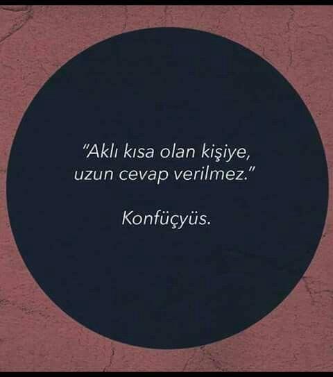 Aklı kısa olan kişiye, uzun cevap verilməz. - Konfüçyüs #sözler #anlamlısözler #güzelsözler #manalısözler #özlüsözler #alıntı #alıntılar #alıntıdır #alıntısözler #şiir #edebiyat