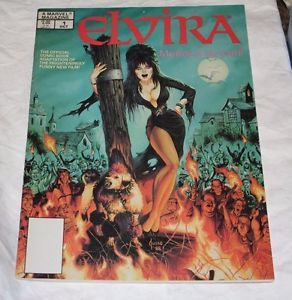 A MARVEL MAGAZINE ELVIRA MISTRESS OF THE DARK #1 RARE VERY FINE CONDITION...$29.95