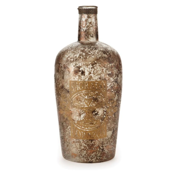 Napa Home and Garden Cotton Mill 19 in. Decorative Bottle - D105