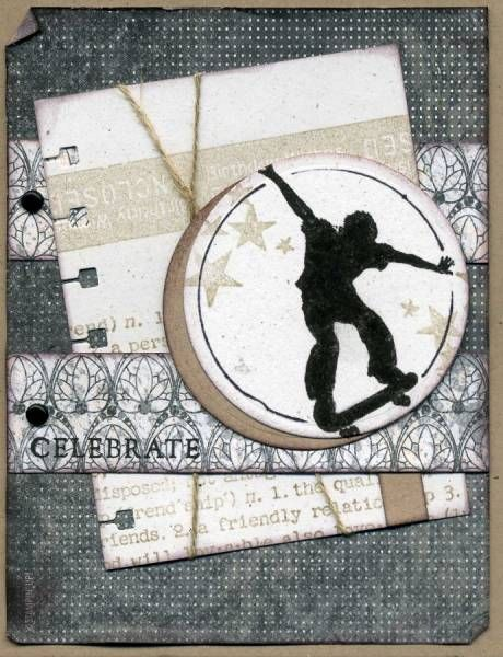 Nouveau Chic Skateboarder by mlnapier - Cards and Paper Crafts at Splitcoaststampers