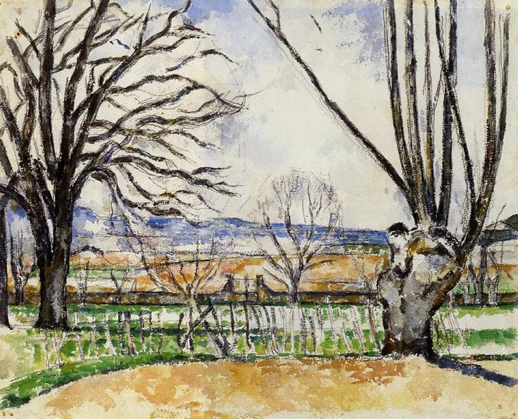 paulcezanne-art: The Trees of Jas de Bouffan in Spring, 1880 Paul Cezanne