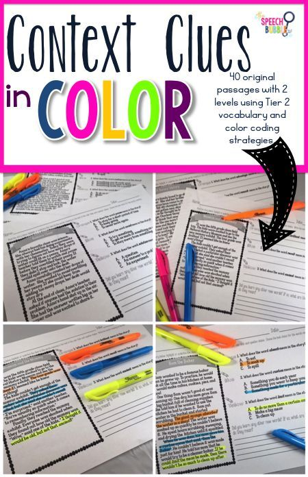 Context clues can be tough to teach but so important for our kids to learn! This bundle has two levels of original stories containing Tier 2 words for grades 2-5!  It also teaches and emphasizes a color coding strategy for kids as a way to help them under