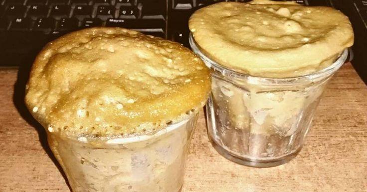 Cupcake de café hecho en microondas   Fácil y delicioso cupcake de café hecho en casa y sin usar horno convencional.