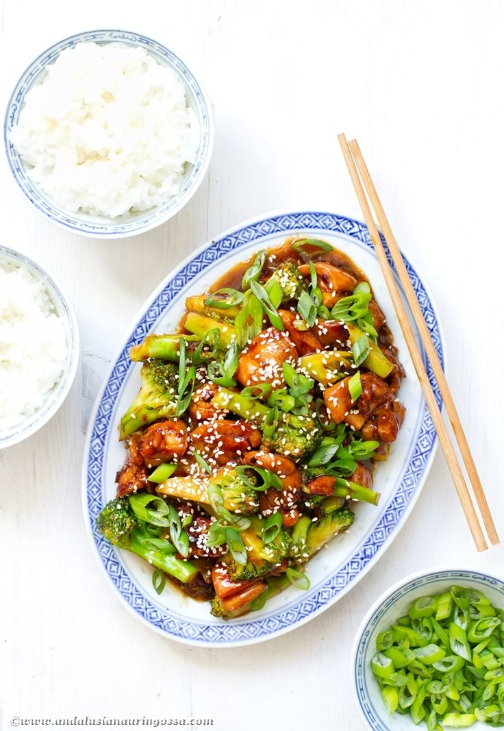 This fake out Chinese sesame chicken with broccoli is at your table quicker than the delivery guy at your door. Promise! #chicken #broccoli #stirfry #quickandeasy #Asianfood #Chinesefood #kosher #food #foodblog #foodie #foodphotography