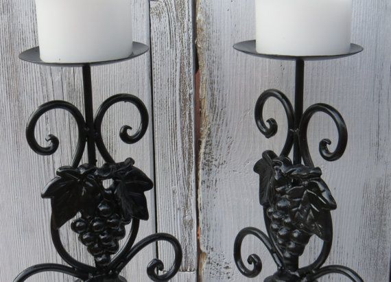 Rustic candle holders distressed candle holders by ChippedPaints